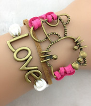 3pcs Bracelet-love and hello kitty bracelet 1477(China)
