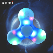 Luminous Hand Spinner Bluetooth Speakers Portable HD Sound Quality For Autism And ADHD Easy To Relieve Stress