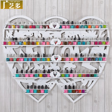 Nail -art multi- wrought iron wall rack shelf nail polish manicure nail shop display rack shelf display cabinet HS-5