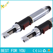 Butane Lighter Jet Torch lighter smoking metal for dry herb tobacco WindProof Torch Lighter gas torch lighter(China)