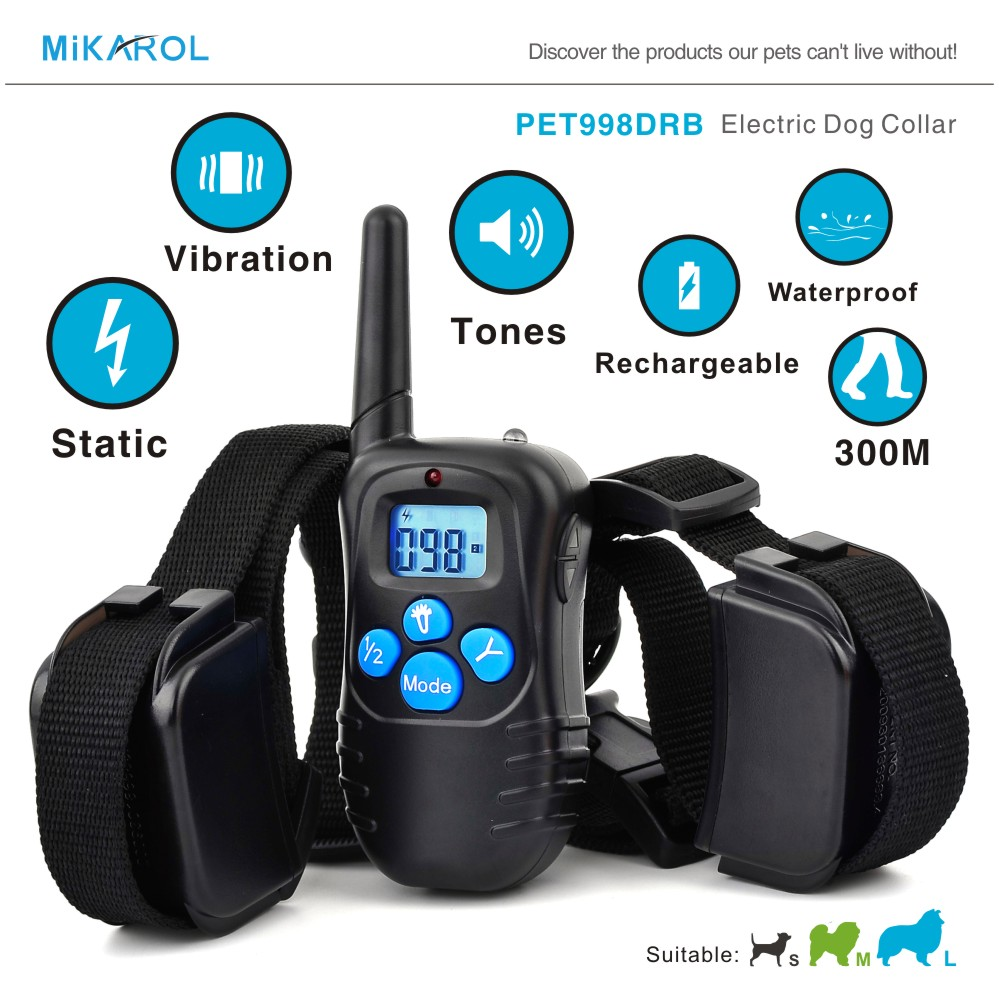 Lowest Price Puppy Dog Control Pet Training Collar, 100 LV Mini Bark Stop Collar Anti Bark Electronic Shock Dog Trainer Collar(China (Mainland))