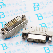 DVI socket 24 +1 Female Head 90 Degrees DVI Block Bent Foot Welded Board Connector Connector Serial Port