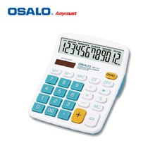 OSALO OS-837VC ABS Material Solar Energy Dual Power Office Finance accounting Calculate Colored Desktop Business Calculator