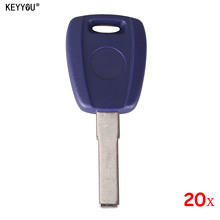 KEYYOU 20pcs High Qualtiy Blue Replacement Keyless Entry Remote Key Fob Shell Case Housing for Fiat Punto Doblo Bravo With L0G0