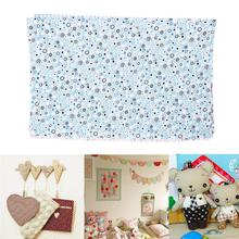 Hot Sale Soft 5pcs Fabric Square Cotton Patchwork Quilting Floral Polycotton Craft Remnants #64675(China)