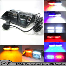 High Power 48W Red Blue Amber White Signal S2 Viper Car Flash Led Strobe Light Security Fireman Police Window shield Warn Light