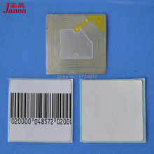 best price Self Adhesive EAS Soft RF label anti theft security label tag used for RF eas system X1000piece(China)
