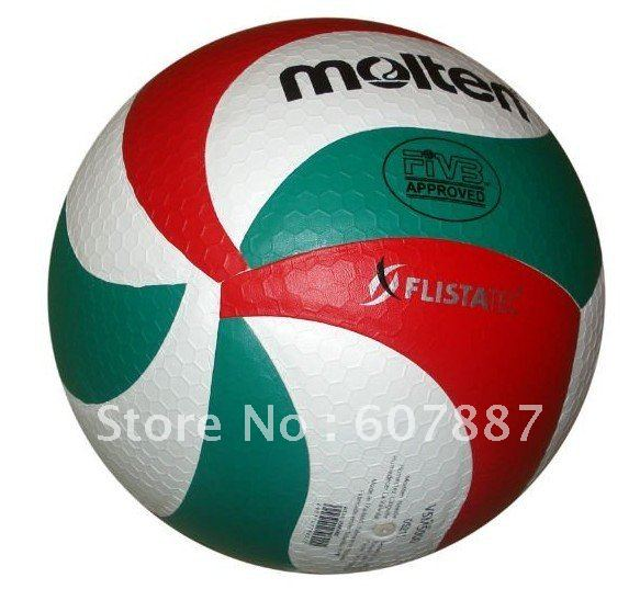 free shipping Brand Molten Volleyball PU Soft Touch Offical Size -NEW VSM5000, 8panels volleyball(China)