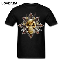Oversize Men TShirt Chaos Star Khorne T-Shirt Man Short Sleeve Cotton Tee Shirt Summer O-Neck Fitness Brand Clothing For Adult
