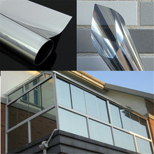 Silver Two Way UV-proof Reflective Mirror Window Film Insulation Film Self Adhesive Sticky Sticker PET Film 100x30cm