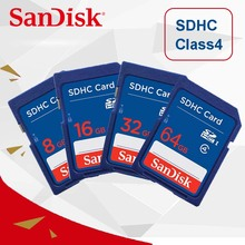 100% Original SanDisk SD card 32GB 16GB 8GB 4GB C4 SD SDHC Memory Card class 4 carte sd for Camera(China)