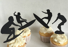 fashion Surfing Silhouette cupcake toppers Bachelorette Hem night Party Supplies wedding birthday baby shower party toothpicks