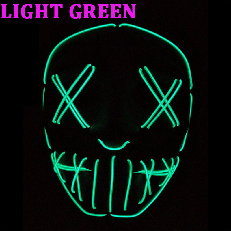 Ropalia Dropshipping El Wire Mask Light Up Neon Skull Led Mask For Halloween Party 2018 Theme Cosplay Masks Ship From Us Costumes & Accessories
