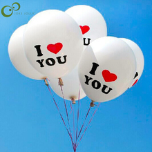 Hot Sale 10pcs/lot I LOVE YOU Wedding Balloon Good Quality Pearl Latex Balloons Christmas Wedding Decorations White Color WYQ