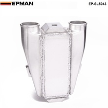 "EPMAN -Universal Aluminum Water To Air Turbo Intercooler Front Mount 9.5"" X 11"" X 3.5"" Inlet/Outlet: 2.5"" EP-SL5043"