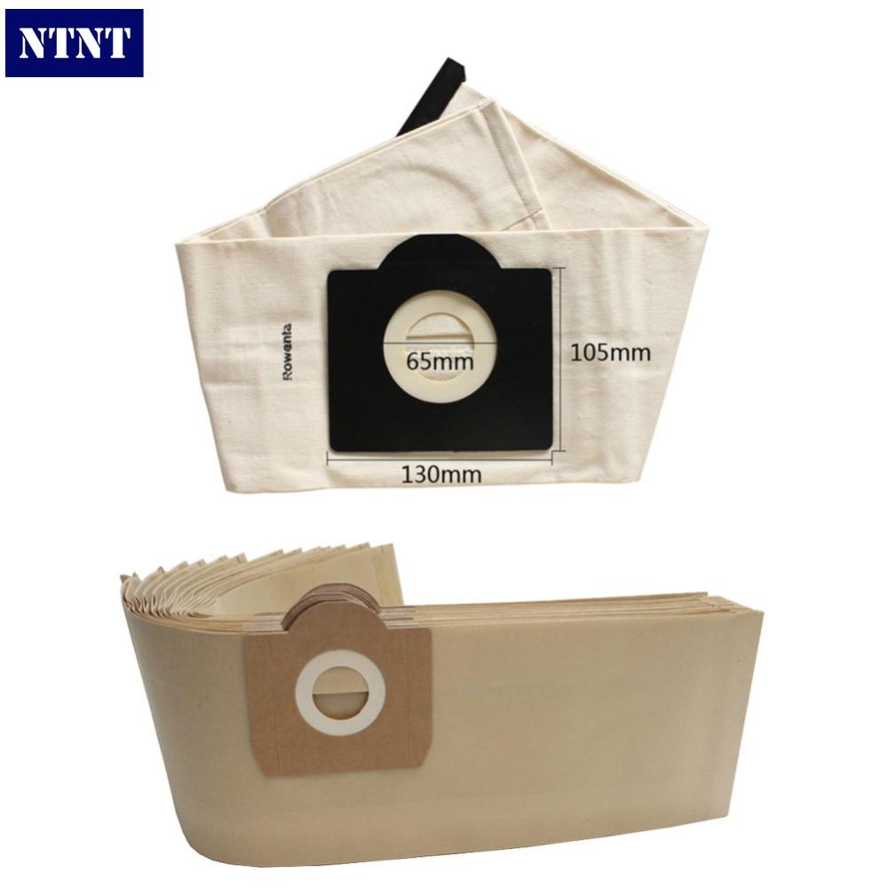 NTNT 5Pcs Total ZR814 Vacuum Cleaner 4Paper DustBags + 1Washable Dust Bag For Rowenta Karcher HR6675 Seteco Rowenta BULLY Bosch <br><br>Aliexpress