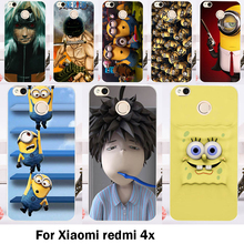 Cases Cover Xiaomi Redmi 4X 5.0 inch Bags Skin Hard Plastic Soft TPU Cell Phone Housing Lovely Minions Shell Sheaths - 3C Accessories Shops Store store