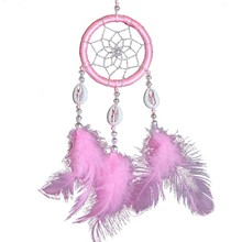 New Wall Hanging Decoration Dream Catcher Circular With Feathers Dreamcatcher