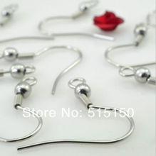 500pcs High quality shiny Stainless steel french hook ear wires Earring Hook DIY jewelry accessories(China)