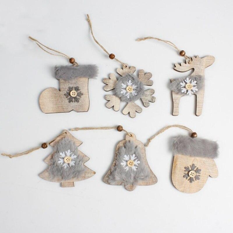 6 x Wooden Festive Christmas Pudding /& Tree Embellishments Scrapbooking