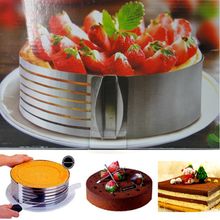 KITNEWER 1pc Retractable Stainless Steel Circle Mousse Ring Baking Tool Set Cake Mould Mold Size Adjustable16-30cm  Bakeware