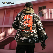 Camouflage Jacket Coat Men VIISHOW Fashion Brand Clothing Bomber Jacket Men Casual Military Streetwear Mens Jackets and Coats(China)