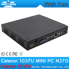 2G RAM 8G SSD Cheapest linux mini industrial embedded pc samll computer with Intel Celeron 1037U dual core 1.8GHZ