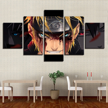 Canvas HD Prints Paintings Living Room Wall Art 5 Pieces Naruto Anime Pictures Cartoon Characters Posters Home Decor Framework