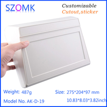plastic instrument box new enclosure (10 pcs) 275*204*97mm electrical cabinet abs plastic enclosure electronic equipment(China)