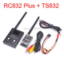 FPV 5.8Ghz 600mW 48CH Wireless AV A/V transmitter receiver TS832 + RC832 plus Tx & Rx Set for Professional Drones RC Plane(China)