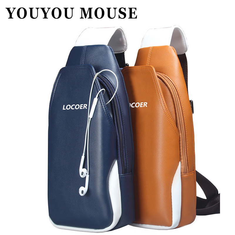 YOUYOU MOUSE Fashion Mens Chest Pack Korean Casual Shoulder Bags Top Quality Messenger Bags Crossbody Male Travel Bag<br><br>Aliexpress