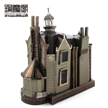 Colorful Ghost Castle Mini Fun 3D Metal Model Kits Puzzle Jigsaw Toys Adults Children Educational Splicing Hobby Building Jigsaw