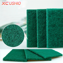 3pcs/lot Emery Scouring Pad Sponge Eraser Kitchen Dish Cleaning Cloth High Density Removing Rust Cleaning Tools(China)