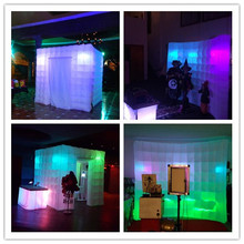 2pcs Cheap hot sale outdoor cube tent inflatable photo booth and wall for advertising(China)