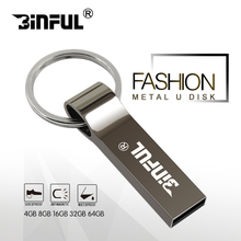 Hot sale metal pendrive USB flash drive 16gb 32gb 64gb pen drive 8gb 4gb Flash Memory Stick flash Drive U Disk cle usb as Gift(China)