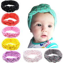Baby Printing Knot Headbands Children Turban Knitted Knot Hair Bands Girls Ribbon Elasticity Hair Accessories Headwear Headdress