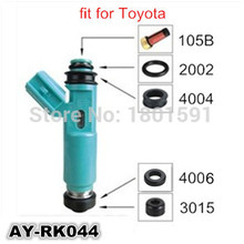 4 kits fuel injection repair kits filter plastic part seals o rings for TOYOTA ( AY-RK044)(China)
