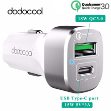 dodocool 33W 2-Port Car Charger Quick Charge 3.0 USB-C Output Charging Port Xiaomi Mi 5 oneplus 3 samsung s7 s6 HTC - Tech World store