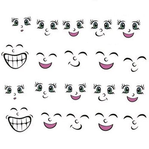 1 Sheet 3D Cute Cartoon Smiling Face Nail Art Tips DIY Decal Manicure Stickers KIJ<br><br>Aliexpress
