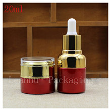 20ml Emulsion Packaging Dropper Bottle,Female Personal Care Glass Essence oil Bottle, Beauty &Skin Care Exclusive Use Containers