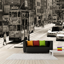 Custom Wallpaper 3D Retro Hong Kong Street View Old Photos Murals Cafe Restaurant Living Room Backdrop Wall Painting Frescoes 3D