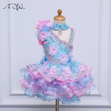 ADLN Little Flower Girls Dresses for Weddings Baby Party Sexy Children Images Dress kids Prom dresses Evening gowns(China)