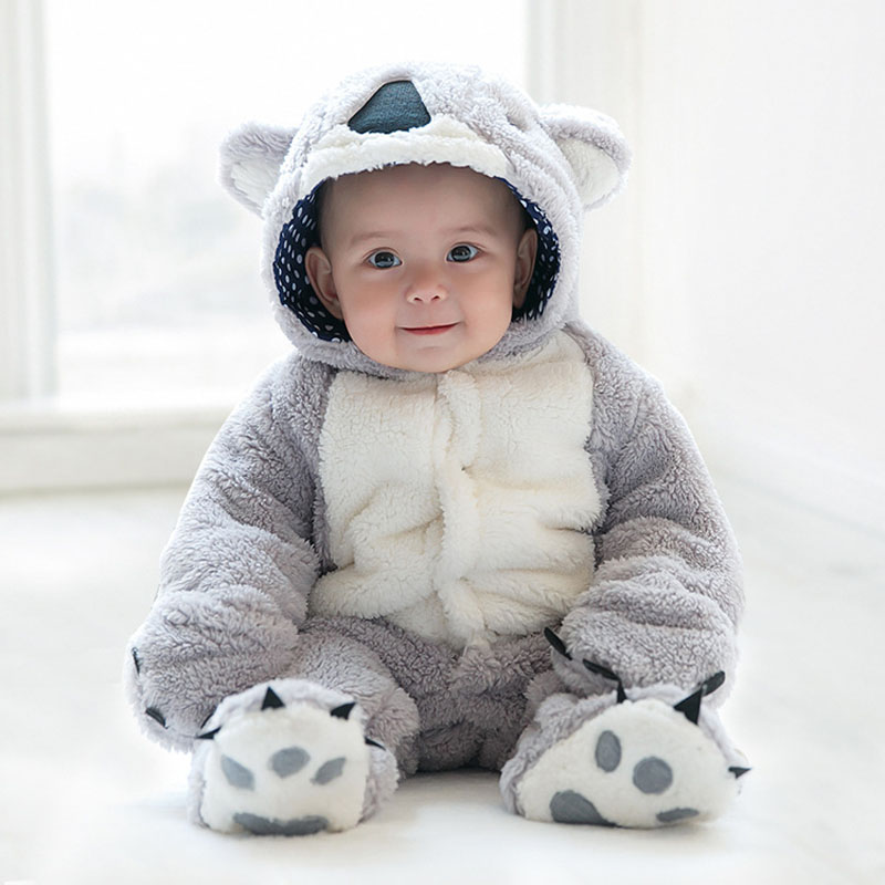 Infant Baby Girl Boy Flannel Long Sleeve Cute Animal Rompers Clothes Newborn Tiny Unisex Footies Jumpsuit Toddler Onesie Overall<br>