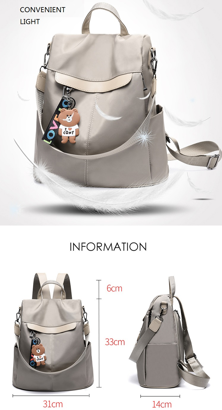 Large Capacity Backpack Women Preppy School Bags for Teenagers Female Oxford Travel Bags Girls Bear Pendant Backpack Mochilas 7 Online shopping Bangladesh