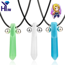 HEYu Fashion Unisex Necklace Anime Catoon Naruto Necklace Crystal Akatsuki Member Hidan Shodai Hokage Tsunade Pendant Necklace