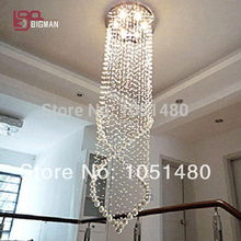 hot sales lustre crystal stair light modern crystal chandelier lighting(China)