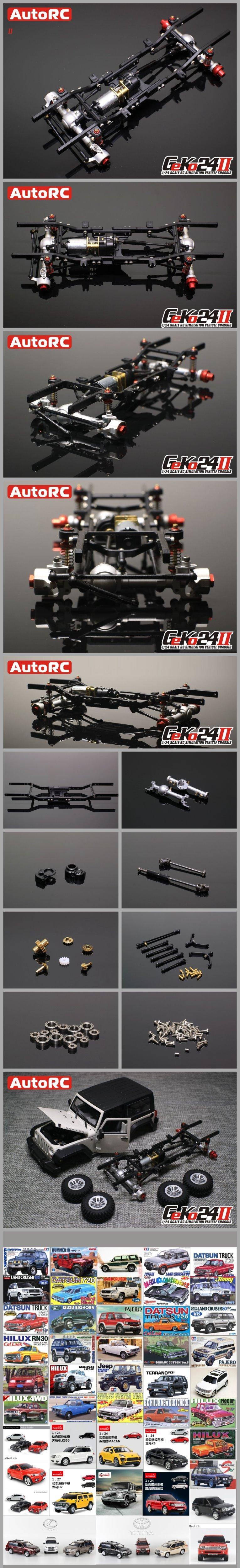 Compre Autorc 1/24 Gk24 V2 Simulación De Metal Completo Marco De ...