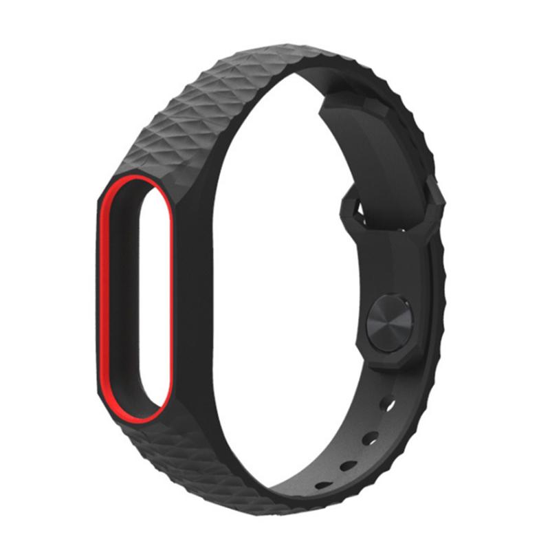 image for Teamyo 2017 Newest Silicone Aurora Xiaomi Mi Band 2 Strap Smart Band R
