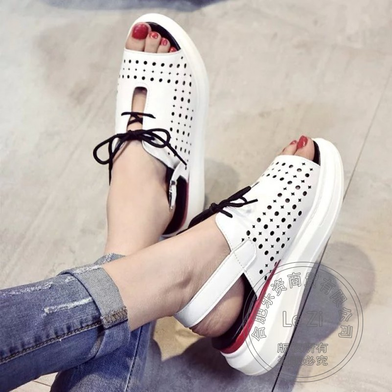 Lightweight Breathable Slender Korean Women Shoes Flat Shoes Women Solid Glamour Soft Leather Pu Hollow Out Summer Shoes<br><br>Aliexpress