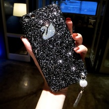 Buy 2018 New Shiny Bling Glitter Case iPhone X 8 7 Plus 6 6s Plus Diamond Tassels Chain Luxury Phone Cases Hard PC Back Cover for $8.54 in AliExpress store